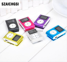 SZAICHGSI MINI Clip MP3 Player with 1.2'' Inch LCD Screen Music player Support SD Card TF without retail box wholesale 500pcs