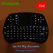 ipazzport 5pc/lot Wireless Mini Bluetooth Gaming Keyboard with air Mouse Touchpad For Tablet PC HDTV Google TV Box Media Player