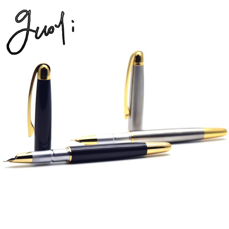 Guoyi D02 Ink pen stationery School Gift DIY Office 0.38 pen nib Golden fountain pen stationery Accounting gift pen