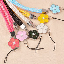 Wholesales 12 Pieces/lot  Fashion Mobile Phone Lanyard Pretty Flowers Mobile Phone Straps
