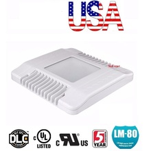 Stock In US + 130W 150W LED Gas Station Canopy Lights Outdoor Floodlight Street Lamp Tunnel Light AC 110-277V UL DLC FCC