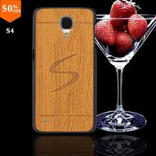 2016 wood wooden case for samsun samsung galaxy s4 s 4 i9500 wood skin case with hard by cover mobile phone covers