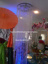acrylic  crystal chandelier,chain chandelier,table top chandelier centerpieces for weddings( hangging only)
