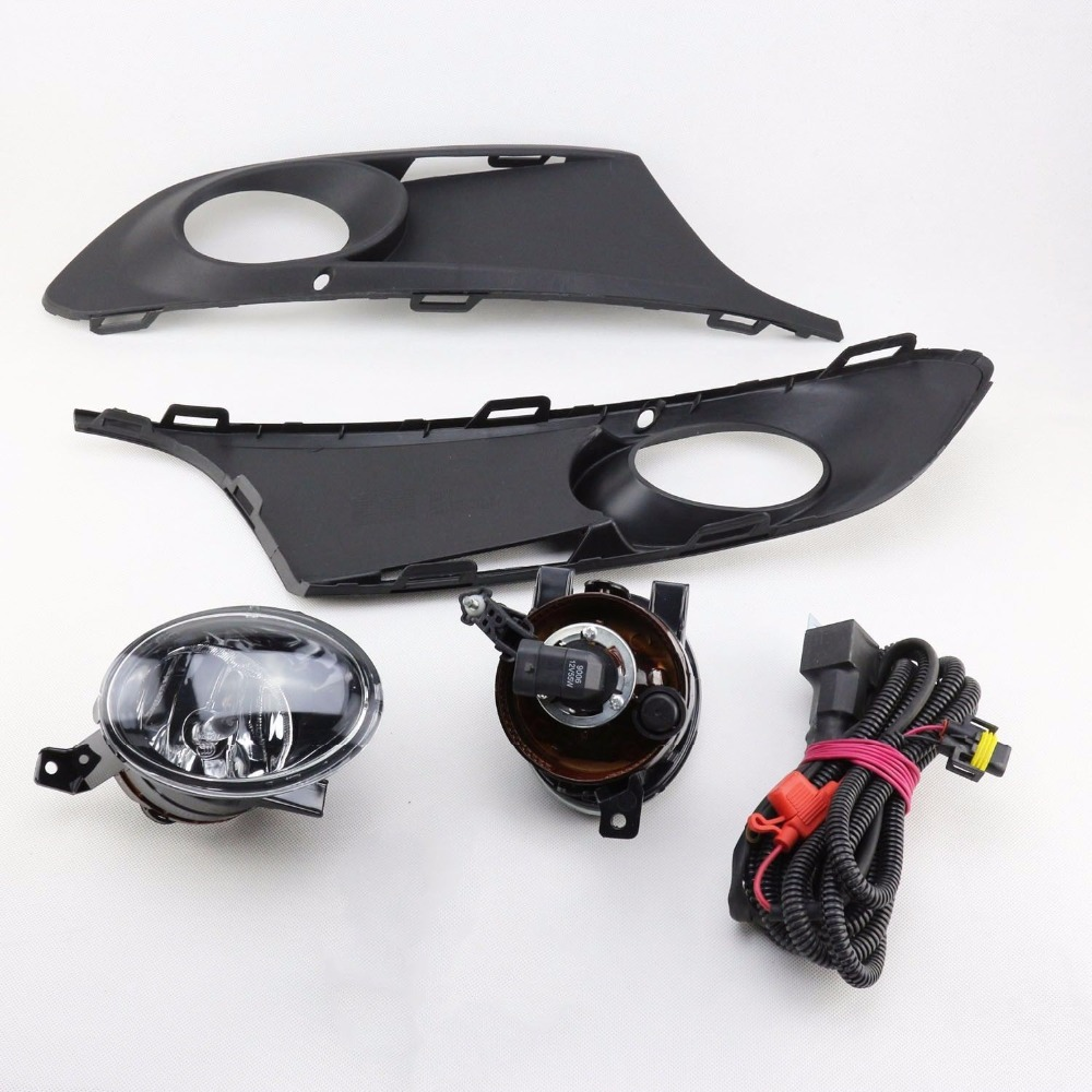 New 5 Pieces/Set Front Auto Fog Lights With Racing Grills Cable Auto Accessories For Volkswagen Jetta MK6 2011-2014 Parts<br>