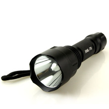 20pcs/pack led flashlight 5000 lumens cree xml t6 torch lamp  flat lens with reflector powered by 1 piece 18650 battery