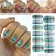 Rocooart KG011A Water Transfer Foils Nail Art Sticker Harajuku Manicure Decorations Decals Minx Finger Nail Nail Polish Sticker(China)