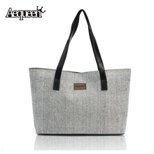 2017 Kate Space Women Handbags Canvas Large Capacity Linen Shoulder Big Shopper Bag Vintage Ladies Casual Summer Beach Bag Tote(China)