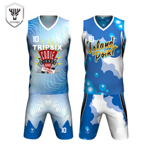 new season high quality sublimation custom made reversible basketball jersey(China)