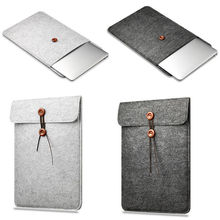 For Apple Macbook Air Pro Retina 11 13 15.4 Inch Wool felt Bag Protective Laptop Sleeve Bag Notebook Case Cover Pouch 11 13 15.4