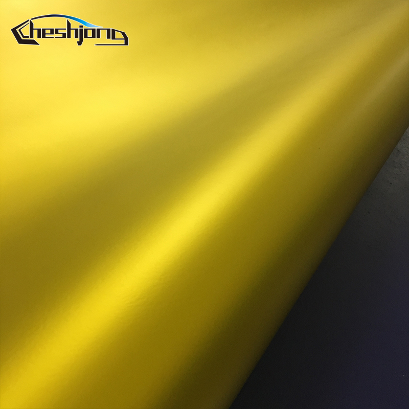 Matte-chrome-Golden-Car-Wrap-Vinyl-Sheet-5