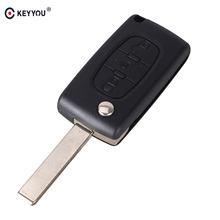 KEYYOU 3 BUTTONS KEY FOB REMOTE CASE FOR Citroen C4 Picasso C5 C6 Light Symbol With Badge Free Shipping(China)