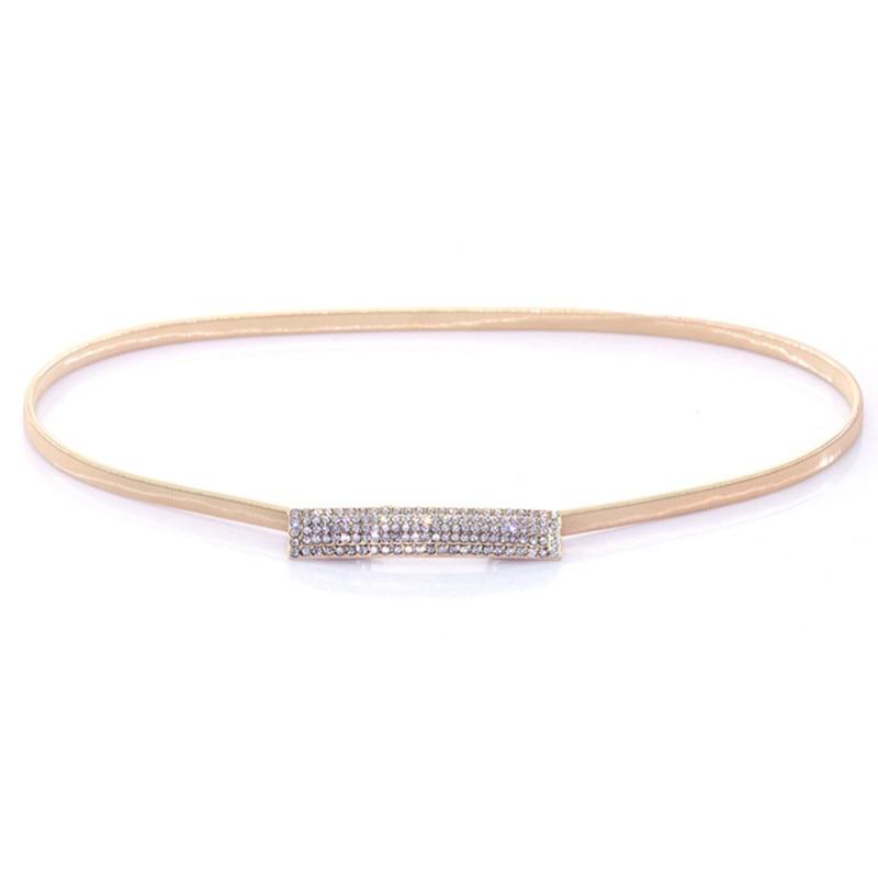 High Quality Gold Chain Waist Belt Women Spring Loaded Elastic Decorative Fine Gold Female Belts Dresses For Girls