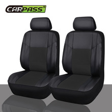 Car-pass  Univerasl  Pu Leather Seat Covers 6Pcs Car Seat Covers Leather Ship From Russia Warehouse interior accessories