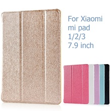 For Xiaomi mi pad 3 2 1 Case mipad 2 3 Cover 7.9 inch Flip Luxury Leather Holder Stand Sleep Case Rose Gold Black White Pink