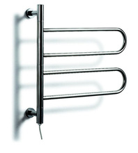 Heated Towel Rail, Stainless Steel Electric Wall Mounted Towel Warmer, Bathroom Accessories Towel Racks(China)