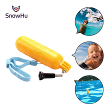 SnowHu Arrival Yellow Water Floating Hand Grip Handle Mount Float Accessory for Gopro Hero 5 4 3+ For XIAOMI for YI 4K EKEN GP82(China)