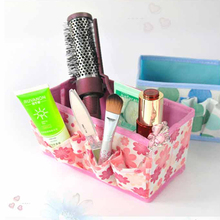 1 pcs Home Foldable Make Up Organizer Cosmetic Makeup Storage box Desktop Basket joyero escritorio organizador de maquillaje