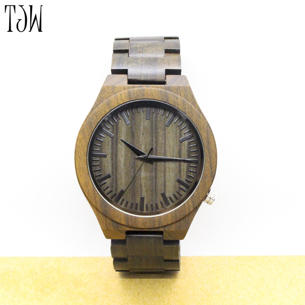 TJW 2017 new  hot sale wooden watch men fashion casual wood  full natural wooden sets <br>