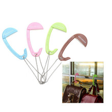 Folding Handbag Hook Holder Table Desk Hanging Clip Multi-color Bag Hanging Hook Purse Bag Folding Umbrella Clip Hanger Portable(China)