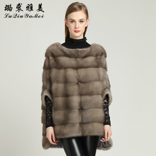 Women's Coats Pullovers Real Mink Fur for Winter Full Pelt Jackets One Size Custom Fur Vest Natural Mink Fur Coat Female Russian(China)