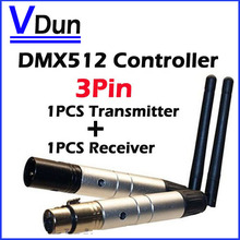 2PCS/LOT 2.4G Wireless DMX 512 Controller Transmitter And Receiver LED Stage Lighting Controller  DMX-TR