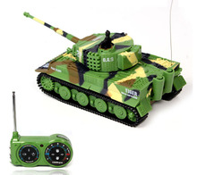 New RC Tank 1:72 Classic RC Radio Remote Control Tiger RC Tank Model For Children Gifts Toy without box pack(China)