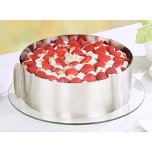 Retractable Stainless Steel Circle Mousse Ring Baking Tool Set Cake Mould Mold Size Adjustable Bakeware 16-30cm Hot Sale