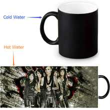 Black Veil Brides Magic Mug Custom Photo Heat Color Changing Morph Mug 350ml/12oz Coffee Mug Beer Milk Mug Halloween Gift