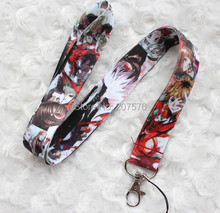 Small Wholesale 10pcs cartoon Tokyo Ghoul mobile Phone lanyard Keychain straps charms Free Shipping C-16(China)