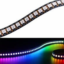 LED Fast Shipping Wholesale 1M 5050 RGB 144 LEDs WS2812B Chip WS2811 Digital RGB LED Strip Light 144 Pixel DC5V(China)