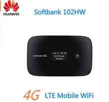 Original Unlocked HuaWei 102HW 4G LTE Wireless WIFI Router Mobile Broadband Device For SoftBank With SIM Card slot