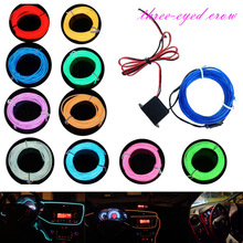 1M 2M 3M 5M EL Wire Dance Party Car Decor Lighting Flexible Rope Tube Waterproof LED Strip car light With DC12V Cigarette Driver(China)