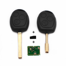 New Remote Key 3 Buttons 433MHz with 4D60 Chip for FORD Focus Fiesta Mondeo C MAX Fusion Transit KA Keyless Entry Fob