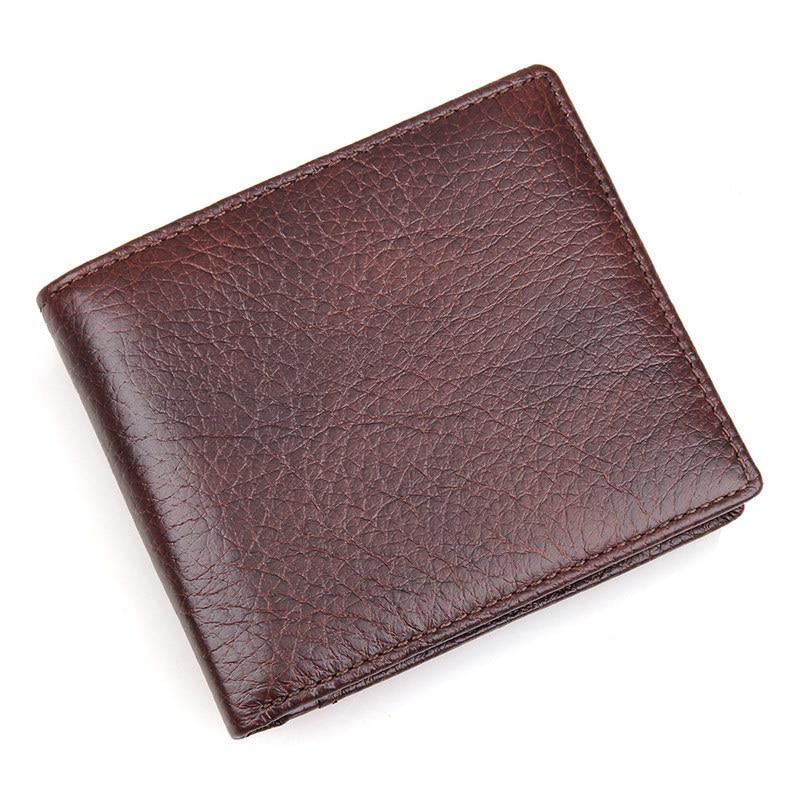 BETMEN Vintage Men Wallets Genuine Leather Bifold Purse Luxury Brand Male Pocket Wallet Card Holder<br>