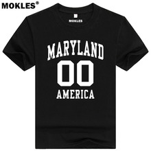 MARYLAND t shirt custom made name number Annapoli MD T-Shirt america Baltimore Ocean City Washington Rockville Salisbury clothes(China)