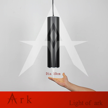ARK LIGHT Dia 10cm black  Aluminum cannular warm color led Pendant Lamp TUBE Cylinder Shape LED hanging light bar lamp