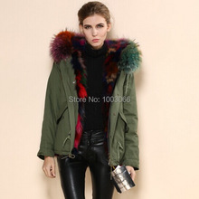 latest design mix color inner cold whether luxury Italian women faux fur winter coats multicolor fox fur lined