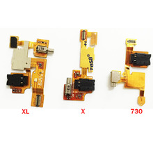 Original For Nokia X XL 730 Headphone Audio Jack Headset Flex Cable Ribbon Replacement