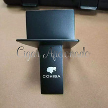 COHIBA Practical Gadgets Silver High Quality Stainless Steel Foldable Stand Showing Portable Cigar Ashtray Holder