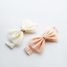 2 Pieces/lot Baby toddler girl headband Lace headbands hair acessories bandeau bebes fille nina menina birthday photography pros