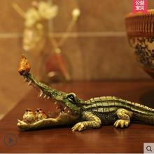 Cute crocodile resin crafts decorations, Nordic Home Decoration living room decorations study cartoon animals(China)