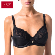 Woman's Bra Lace Black Soft Cup Cotton Lining Large Size Big Breast Support 80 85 90 95 100 C D E ARDI Free Delivery R1710-15()