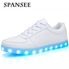 Fashion Usb Glowing Shoes Luminous Sneakers for Kids Boys LED Shoes with Light Up sole Krasovki Tenis Feminino LED Slippers 30