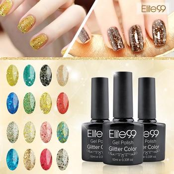 Elite99 Profeesional UV Gel Nail Manucure 10 ml Glitter UV Nail polonais Diamant Glitter Gel Nail Bonne Qualité Soak Off Gel polonais