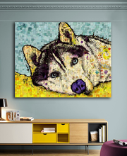 Large size Siberian Husky Dog 2 pop art wall painting for home decor idea oil painting art print on canvas No Framed picture