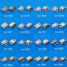 16Models ,5p 5pin mini micro usb jack connector charging port for opp HTC Milet Lenovo ZTE mobile phone tablet pc mid