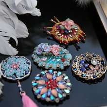 Manual clothing bead applique clothes paillette patch sew on DIY crystal diamond hair pin material(China)
