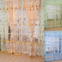 Newest Fashion Window Door Scarf Drapes Valances Tulip Sheer Curtain Beads Tassel