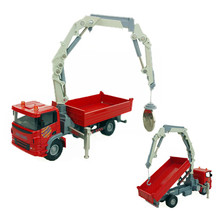 1:60 Truck-Mounted Crane Model Toy Diecast & Alloy Trolley Trucks Construction Vehicle Car Model Kids Toys Boys Gift Brinquedos