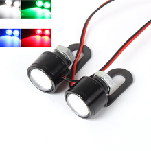 2PCS 3W External Light Source Lamp Waterproof Motorcycle Mirror Mount LED Daytime Running Fog Bulb White Blue Green Red 5630 SMD(China)